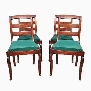 Restoration Mahogany Chairs, Set of 4