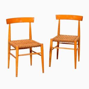 Vintage Holzstühle von Krásná Jizba, 1960er, 2er Set