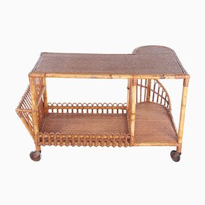 Large Vintage Bamboo French Trolley, 1960s
