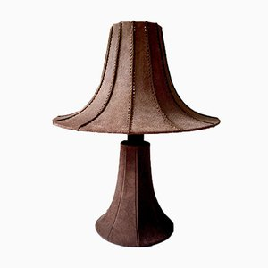 Pagoda Table Lamp in Suede