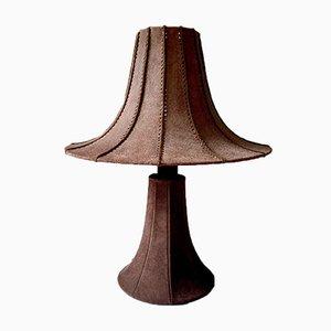 Pagoda Tischlampe aus Wildleder
