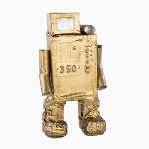 Roboter No. 350 in Golden Cardboard by Philip Lorenz, 2010