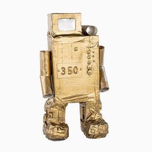 Roboter nr. 350 in cartone dorato di Philip Lorenz, 2010