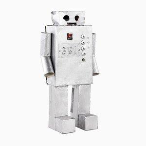 Roboter Nr. 351 aus silbernem Karton von Philip Lorenz, 2010
