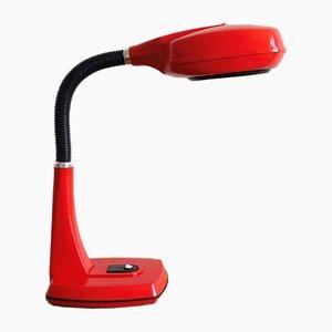 Russische Space Age Schreibtischlampe aus rotem Kunststoff, 1990er