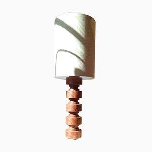 Mid-Century Lampe aus Teak
