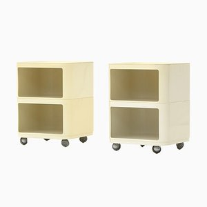 Square Componibili Containers by Anna Castelli Ferrieri for Kartell, 1960s, Set of 2