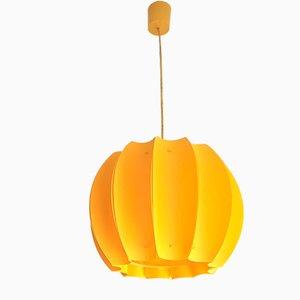 Minimalist Scandinavian Canary Yellow Acrylic Pendant Lamp, 1970s