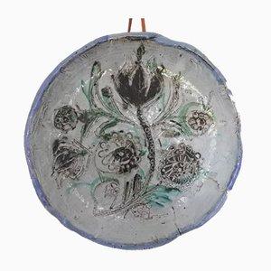 Großer Keramikteller von Boris Kassianoff für Vallauris, 1950er