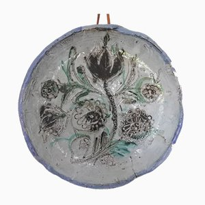 Large Ceramic Plate by Boris Kassianoff for Vallauris, 1950s