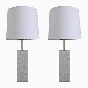 Vintage Quartz Table Lamps, 1970s, Set of 2