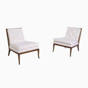 Lounge Chairs in White Bouclè by Terence Harold Robsjohn-Gibbings, Set of 2
