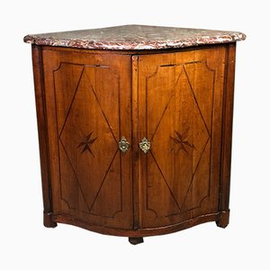 Louis XV Curved Buffet in Marquetry from J.B GALET