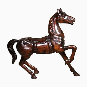 Carved Wooden Carousel Horse, 1960s