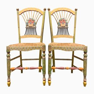 Light Flower Basket Children's Chairs by Mackenzie, Set of 2