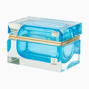 Big Jewellery Box Casket in Mandruzzato Murano Italia Murano Glass