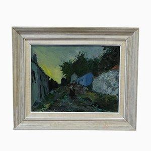 Arne Aspelin, Schwedische Moderne Gemälde, 1960er, Öl auf Holz