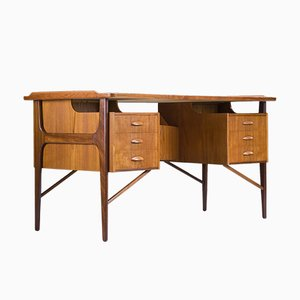 Mid-Century Teak Desk by Svend Aage Madsen, 1960s