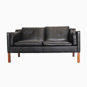 Canapé 2212 en Cuir par Børge Mogensen pour Fredericia
