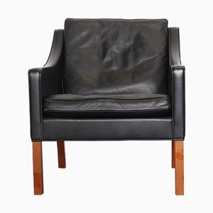 2207 Leather Lounge Chair by Børge Mogensen for Fredericia