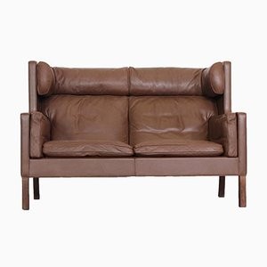 2292 Coupe Leather Sofa by Børge Mogensen for Fredericia