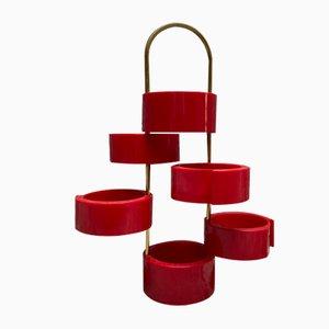 Rote Garderobe