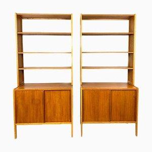 Teak Shelves by Bertil Fridhagen for Bodafors, Sweden, 1960s, Set of 2