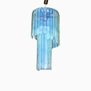 Luz de techo en azul de Murano de Leucos, años 70