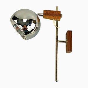 Space Age Teak Sphere Wall Lamp from Temde, 1960s