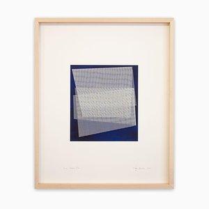 Peinture Abstraite Moiré Bleu de Prusse, 2019