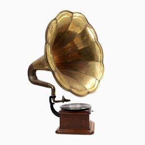 Gramophone Art Déco en Laiton, 1930