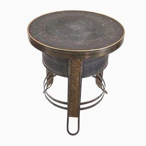 Table d'Appoint Art Nouveau Industrielle en Laiton