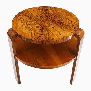 Art Deco Nut Burlwood Coffee Table, 1930s