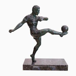 Escultura de fútbol Art Déco