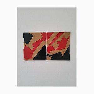 Marcus Centmayer, Kleines Diptychon, Abstrakte Acrylmalerei, 2021