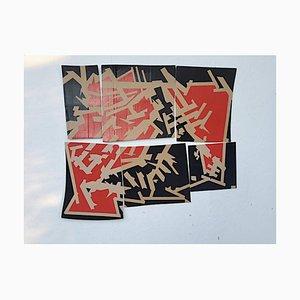 Marcus Centmayer, Kairo der Mamelucken, Abstraktes Acrylgemälde, 2021