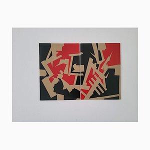 Marcus Centmayer, Tango in the Big Mango, Peinture Acrylique Abstraite, 2021