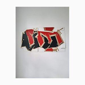 Marcus Centmayer, Peinture Acrylique Abstraite Out of the Box, 2021