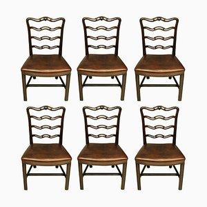 Antike Esszimmerstühle im George III Stil, 6er Set