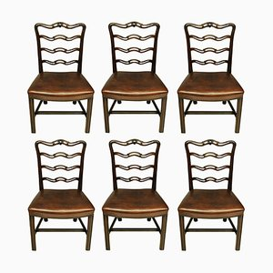 Antique George III Style Dining Chairs, Set of 6