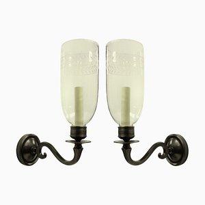 Englische Wandlampen im Regency Stil mit Sturmleuchten, 1970er, 2er Set