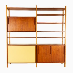 Danish Modern Freestanding Bookcase by Ib Kofod-Larsen for Brande Møbelindustri, 1954
