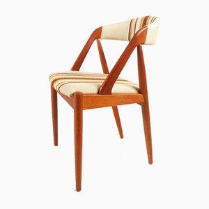 Vintage Danish Teak Model 31 Dining Chairs by Kai Kristiansen for Schou Andersen 1960s, Set of 4