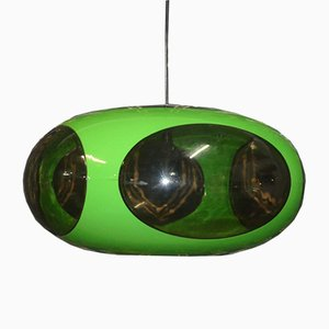 Vintage Space Age Green UFO Lamp by Luigi Colani for Massive, 1970s