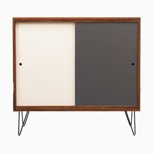 Hohes Sideboard aus Teak mit farbigen Türen, 1960er