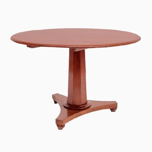 Antique Biedermeier Round Cherrywood Dining Table