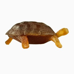 Vintage French Crystal Glass Tortoise Paperweight from Daum Nancy, 1980s