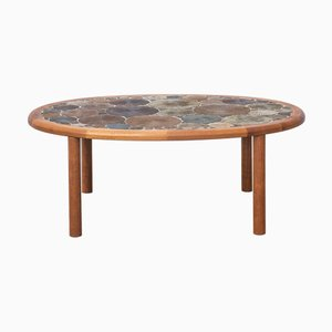 Ceramic Art Coffee Table by Tue Poulsen for Haslev Møbelsnedkeri