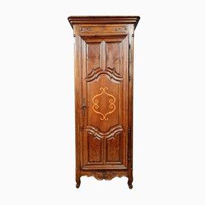 Louis XV Bonnetière Cabinet in Oak, Walnut and Marquetry
