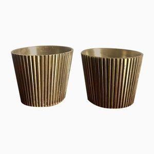 Brass Vases, 1950s, Set of 2